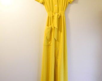Glamourous terry cloth 70s dress / cover up sz. Small / Medium