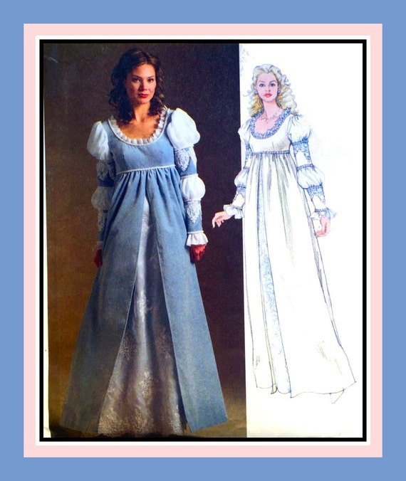 Renaissance Bridal Gown Sewing Pattern Princess Dress: RENAISSANCE PRINCESS GOWN-Costume Sewing Pattern-Empire