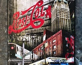 New York Pepsi -pepsi sign LIC long island city queens Brooklyn graffiti truck original mixed media, graffiti on canvas stretched