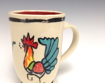 Rooster  Mug: Infamous Key West Rooster Red