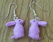 Purple Bunny Earrings - Easter bunny earrings - Easter earrings - cute bunny earrings - lavender earrings - felt rabbit earrings