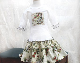 Summer Rose Little Girls Outfit Twirl Skirt Top Set Girl Skirt Outfit Girl Clothes Children's Clothing Size 18m 2T 3T 4T 5 6 7 8 Kids Gift