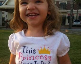 Big Sister Princess Going to Be Custom Personalized Name Shirt