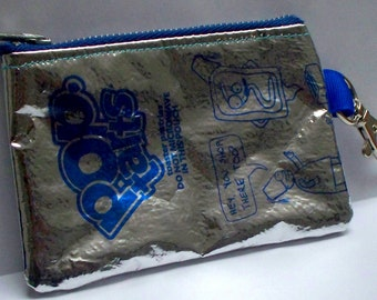Key Chain Purse - UPCYCLED Pop Tart bag RECYCLED into a coin purse with Lobster Clasp Key Chain