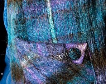 The Vintage Mohair Wool Flannel Plaid Purple Vest