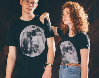 moon / space cycle / ladies triblend t-shirt