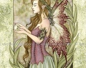 LAST ONE Serenity fairy 8X10 PRINT by Amy Brown