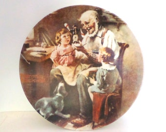 1977 Norman Rockwell First Limited Edition Collector Plate The Toy Maker Wall Decor Collectible Ceramic