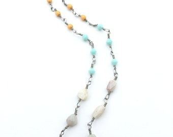 Adventurine and Opal Necklace