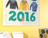 """SALE! **2016 Woolly Sweater** """"KniTea"""" Towel Calendar"""