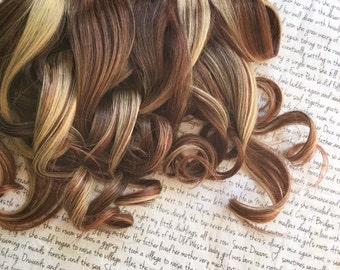 "the B A M B I . Bambi 100 percent human hair Full Set clip in extensions 14/16"" brown black auburn red blonde natural highlight lowlight"
