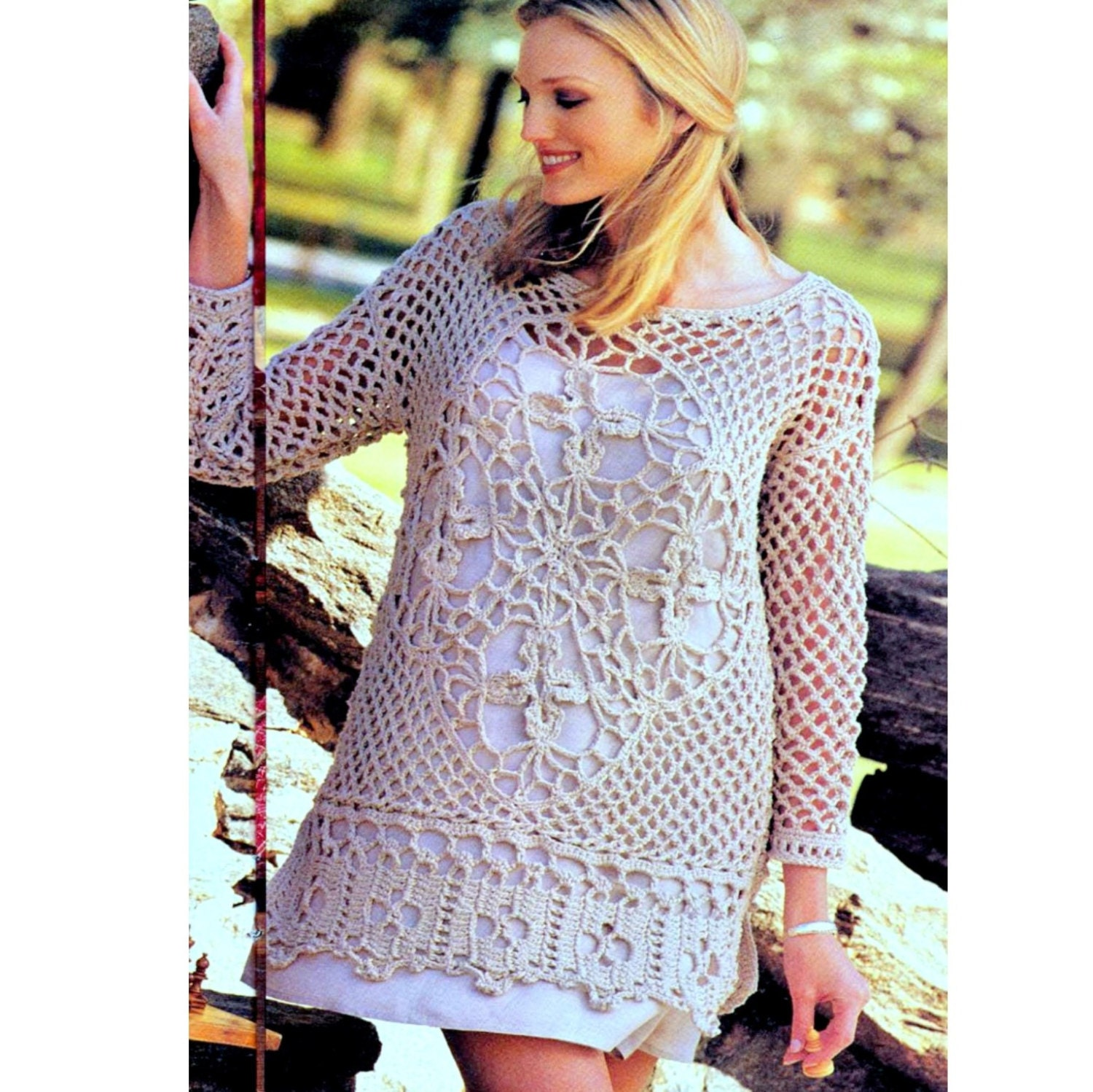 Instant download pdf vintage crochet pattern lace tunic beach instant download pdf vintage crochet pattern lace tunic beach cover up dress top mini retro plus free pattern bankloansurffo Gallery
