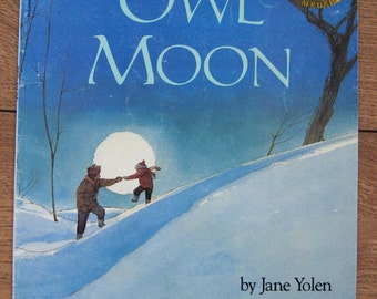 vintage 1987 childrens picture book OWL MOON sc