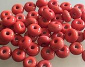 From the beadbox - 50  Spacer Beads  - Handmade Lampwork (31)