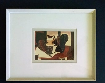 Vintage Picasso Print Modern Art Still Life Framed Modernist Art