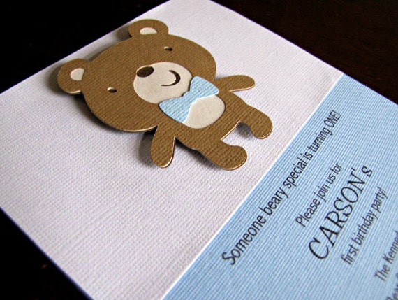 Teddy Bear Party Invitations Teddy Bear Birthday Invitation Teddy