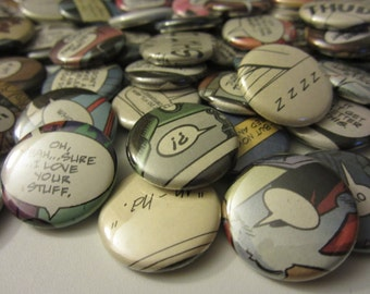 Comic Book Quotes: Punctuations (Pinback or Magnets)
