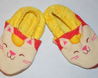 Kitty Cat Baby Slippers Size NB