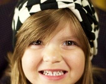 Black & White Tribal Knotty Turban