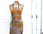 Medium Mermaid Sundress/Fairy Wedding Dress/Upcyled Dress/Eco Friendly Clothing/Hippie Clothing/Music Festival Clothing/Tie Dye Sundress