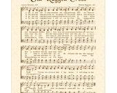 OLD RUGGED CROSS - Custom Christian Home Decor - Vintage Verses Sheet Music - Antique Hymn Wall Art - Inspirational Wall Art - Speia Brown