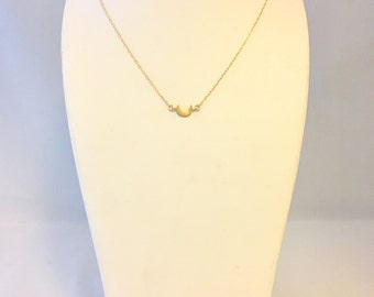 New Moon Necklace - 16k Gold