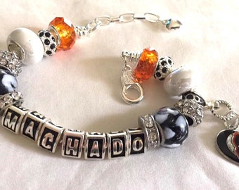 BALTIMORE ORIOLES BASEBALL jewelry bracelets  jewelry bracelets handmade