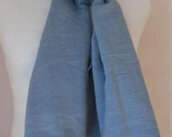 """Denim Blue Rayon Scarf - 24"""" x 60"""""""
