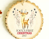 Baby's First Christmas  Ornament - Deer Ornament - Modern Christmas Ornament - NEW 2016 Collection - XMAS002