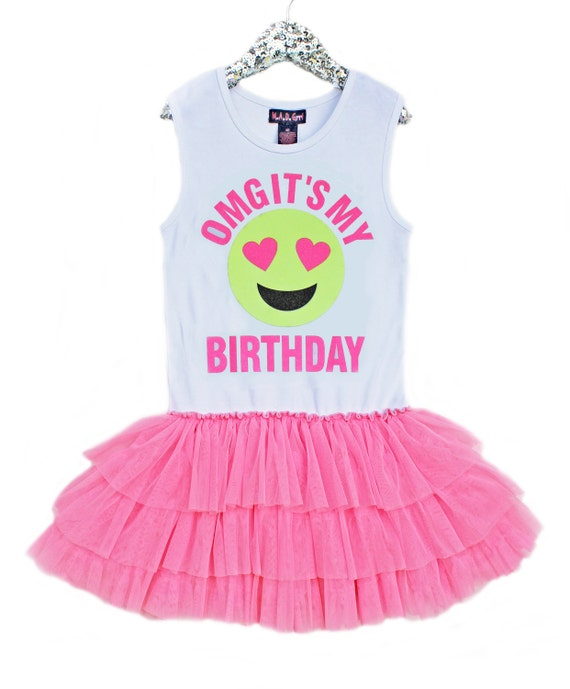 Birthday Dress Girls Emoji Birthday Birthday Girl Tween