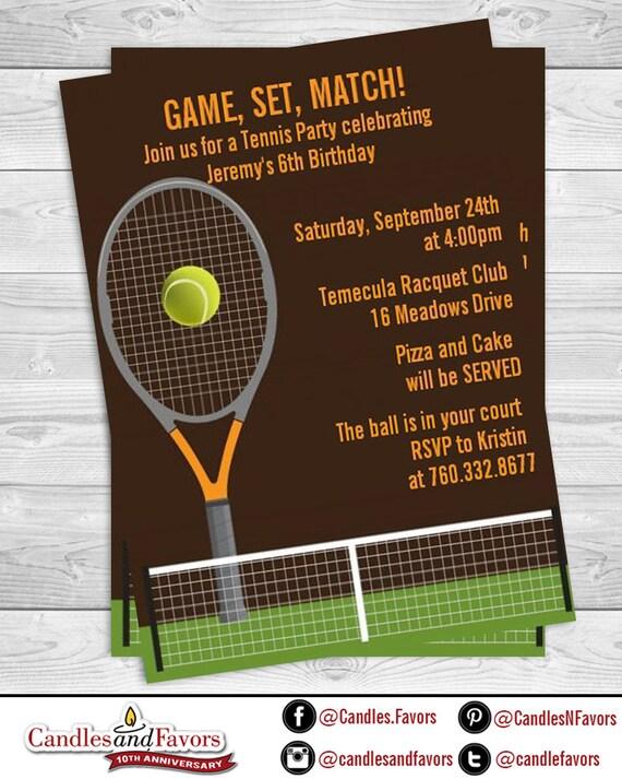 Tennis birthday party invitation professionally printed or diy il570xn filmwisefo