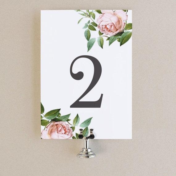 table numbers template diy printable instant download. Black Bedroom Furniture Sets. Home Design Ideas