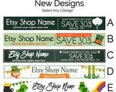Etsy Shop Banners - Etsy Banners - St. Patrick's Day Etsy Banners - Saint Patrick's Day Etsy Banners - Etsy Shop Banners Selections - 3