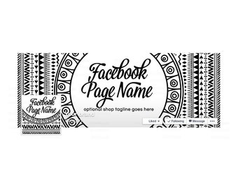 Timeline Cover and Profile Picture - Facebook Timeline Cover Facebook Cover - Sewing Themed - Social Media Cover - Boho Style 101-16