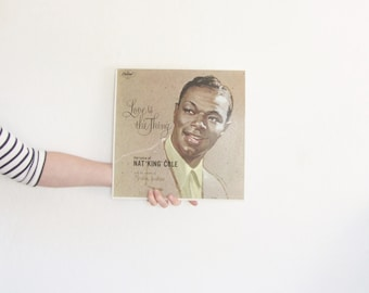 Nat King Cole LP record . Love Is The Thing . 1965 recorded audio .sale s a l e