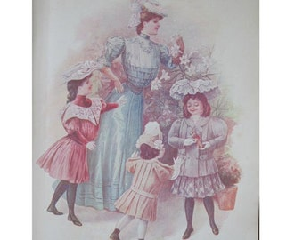 Antique Magazine April 1906 The Designer Fashions Needlework Hats Corsets Advertising Recipes Stories Style for Women Children Time Machine