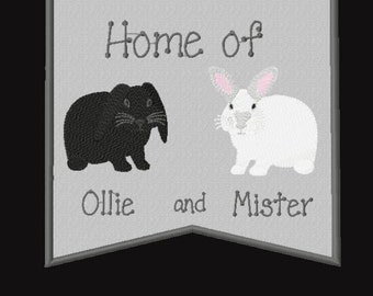 Rabbit-Extra Large Banner (Personalized Pet)