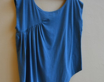 Sale, Large, Side Drape Top, Bamboo Eco Jersey, modern style, wabi sabi, modern boho- ready to ship