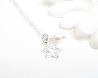 Star of David Necklace // Bat Mitzvah Gift // Jewish Star Necklace // Magen David Necklace // Star of David Gift
