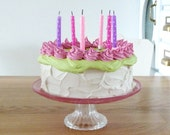 FAKE CAKE To Blow Out Candles To Celebrate A Birthday Party,Great Prop For Any Birthday Party at Home and at school, Birthday Prop