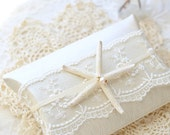 Luxury Leather and Lace Pillow Gift Box, Wedding Gift Box, Elegant Gift Card Holder