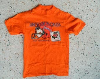 University of Florida Gators 1980s vintage tee shirt - orange size small