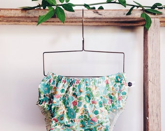 ROSA BLOOMERS - Diaper cover / Nappy cover Constructed from Liberty Art Cotton Tana Lawn