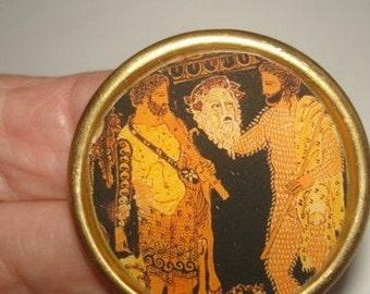 Greek  Mythology Vintage  Jewelry Brooch