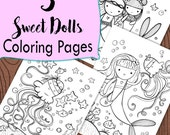 3 Mermaid Sweet Dolls  Coloring pages