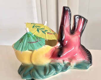 Sale  Gorgeous Vintage California Pottery Bird Planter -- Vintage Home