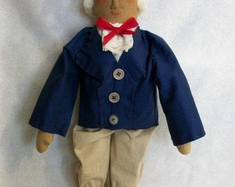 Primitive doll, George Washington, 20 inch doll hand made original by Dumplinragamuffin,HAFAIR,OFG