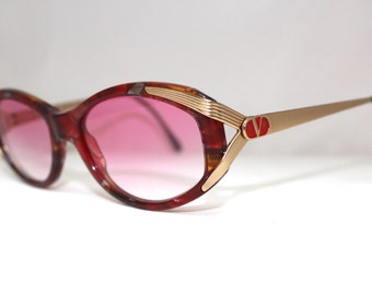 Vintage Valentino SUNGLASSES Eyeglasses made in Italy , 80s 90s model V665/ Womens/New lenses/with case