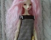 Pretty Light Pink mohair wig for HeartStrung Ruse, PukiPuki, DC Ada, Bjtales Phantom