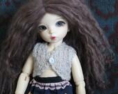 RESERVED listing for spiltalmondmilk - two knitted bolero tops for Littlefee or doll same size bjd